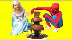 Spiderman và Công Chúa ELsa Xây Lâu Đài Chocolate  Trò Đùa Joker  Phim N...