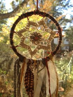 Doily Dream Catcher on Etsy, $12.00