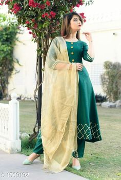 Dupatta Sets Women Rayon Flared Solid Long Kurti With Palazzos And Dupatta Fabric: Kurti - Rayon Palazzo - Rayon Dupatta - Organza Sleeves: Sleeves Are Included Size: Kurti (Bust): M - 38 in L - 40 in XL - 42 in XXL - 44 in XXXL - 46 in  Palazzo (Waist): M - 35 in L - 37 in XL - 39 in XXL - 41 in XXXL - 43 in  Dupatta - 2 Mtr Length: Kurti - Up To 46 in Palazzo - Up To 39 in Type: Stitched Description: It Has 1 Piece Of Kurti 1 Piece Of Palazzo And 1 Piece Of Dupatta Work/ Pattern: Kurti - Embroidered Palazzo - Solid Dupatta - Solid Country of Origin: India Sizes Available: M, L, XL, XXL, XXXL   Catalog Rating: ★4 (456)  Catalog Name: Women Rayon A-line Solid Long Kurti With Palazzos CatalogID_194070 C74-SC1853 Code: 995-1509192-