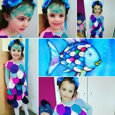 The rainbow fish. World book day World Book Day Costumes, Rainbow Fish, Cinderella, Disney Characters, Fictional Characters, Disney Princess, School, Books, Livros