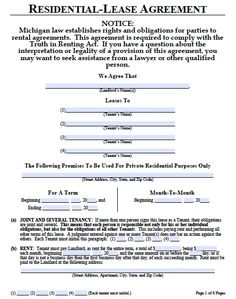 Printable Sample Commercial Lease Agreement Form | Real Estate Forms ...