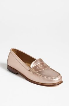 Rose Gold Bass Loafers. Love/hate? Maybe a little bit of both.