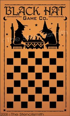57 - Witch Game board-57 - Witch Checkerboard chess gameboard black hat co. game board