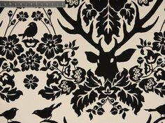 Cotton Sateen - Antler Damask