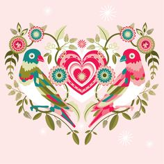 Vector Valentines by Charlotte Day, via Behance