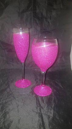 Glitter wine glasses glitter glass wine glass gifts glitter | Etsy