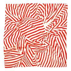 Furoshiki Stripe Scarf - Red  #japan #scarf