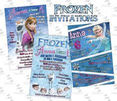Disney's Frozen ticket Invitations - Party Supplies available. Custom Party Invitations, Ticket Invitation, Diy Party, Party Favors, Party Ideas, Party Plates, Party Cups, Disney Frozen Party, Disney Scrapbook