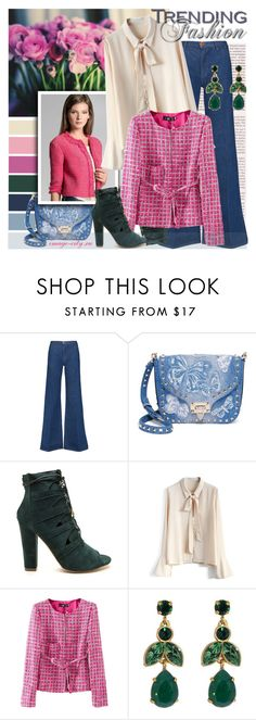 """""""Сhanel-style"""" by lyusilgrig ❤ liked on Polyvore featuring M.i.h Jeans, Valentino, Chicwish and Swarovski"""