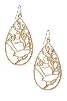 Picturesque Spring Teardrop Earrings.