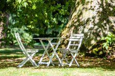 Outdoor Chairs, Outdoor Furniture, Outdoor Decor, Bistro Set, Vintage Green, Outdoor Living, Om, Budget, Euro