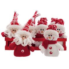 Soft Hanging Snowman & Santa