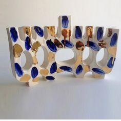 december 12 is the first night of hanukkah! a few of my menorahs are for sale at @thejewishmuseumshop