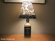 The Bottle Lamp Makers bid farewell to 2012 and greet 2013 Glass Bottle Crafts, Glass Bottles, Bottle Lamps, Jack Daniels Bottle, Pinterest Crafts, Lamp Shades, Home Projects, Liquor, Diy And Crafts