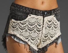 lace overlay.