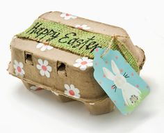 Cute Easter craft for grown-ups or kids -- could use to bring a little Easter gift to host or grandparents