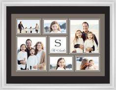 Classic Monogram Framed Print, White, Classic, Black, Black, Single piece, 24 x 36 inches, Brown