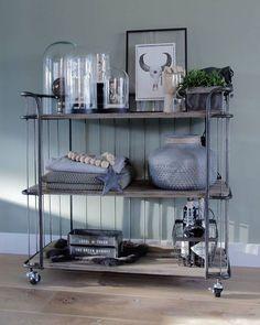 trolley bakkerskast industriële kast cabinet industrieel interieur decoratie decoreren woonaccessoires - industrial interior - decoration