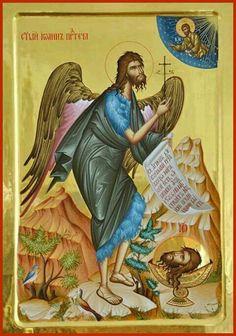 Byzantine Icons, Byzantine Art, Orthodox Christianity, John The Baptist, Orthodox Icons, Little Sisters, Saints, Nativity, Religion