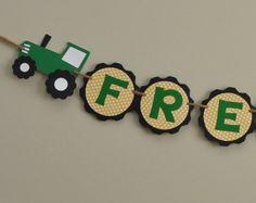 Tractor neumático nombre Banner, Banner de cumpleaños de Tractor