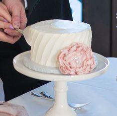 "Small White Cake Stand- 6"""