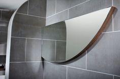 Arc curved bathroom mirror from Utopia Bathrooms.