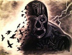 Mil Muertes Lucha Underground, Wrestling, Superhero, Comics, Dark, Blue, Fictional Characters, Ideas, Macabre