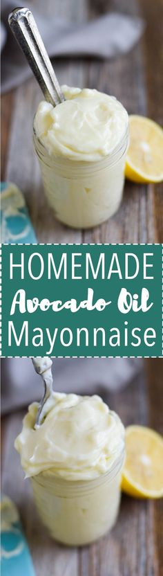 Easy homemade mayonnaise with avocado oil. Creamy, healthy mayo that is perfect for dressings, sauces and deviled eggs! (Real food paleo) (Paleo Whole Chicken) Avocado Recipes, Ketogenic Recipes, Paleo Recipes, Low Carb Recipes, Whole Food Recipes, Cooking Recipes, Paleo Sauces, Cooking Tips, Dinner Recipes