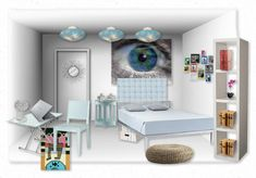 Heavenly Girl's Dorm - Faux Padded Headboard in Sky Blue by casart. Create your own interior design moodboard now! Girl Dorms, Design Boards, Headboards, Heavenly, Create Your Own, Sky, Interior Design, Creative, Blue