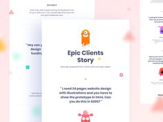My freelancing Career : Epic Clients