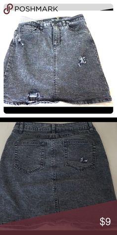Dark jean skirt ! Lightly worn black/gray Jean mini skirt Skirts Mini
