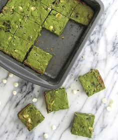 Matcha Green Tea Brownies | Get Your Own Boutique Organic Matcha Today: http://www.amazon.com/MATCHA-Green-Tea-Powder-Antioxidants/dp/B00NYYVWFQ