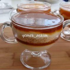 Akşam için hafif bir tatlı yapmak istermisiniz karamelli magnoliayı deneyebilirsiniz 👍muhallebinin yumuşak dokusu karamelin aroması gerçekten m�..