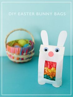 DIY Bunny Treat Bags for Easter #easter #DIY #Bunny