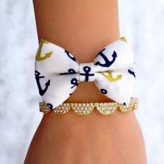 Anchors Away Bow Tie Bracelet
