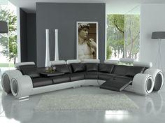 Tosh Furniture Modern Italian Design Franco Leather Sectional Sofa  $2,600.00