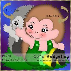 Anjo Creations: CU Cute Hedgehog Template
