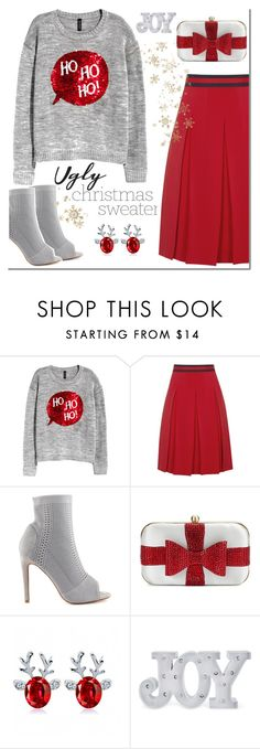 """Christmas sweater"" by katymill ❤ liked on Polyvore featuring H&M, Gucci, Cape Robbin, La Regale, Christmas, Sweater and Uglysweater"