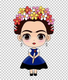 This PNG image was uploaded on August pm by user: and is about Animaatio, Art, Artist, Beauty, Black Hair. Cartoon Drawings, Cartoon Images, Art Drawings, Frida Kahlo Cartoon, Mexico Party, Kahlo Paintings, Frida Art, Mexican Birthday, Cute Cartoon Characters