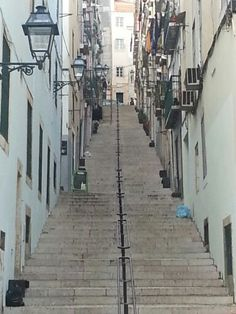 Lisbon street in February.