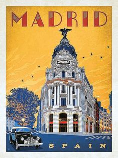 New travel, spain travel, illustrations and posters, madrid travel, spain m Pub Vintage, Photo Vintage, Vintage Kitchen, Vintage Art, Collage Vintage, Vintage Pink, New Travel, Spain Travel, Travel Goals