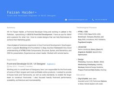 Simple Resume with Material Design