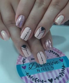 50 perfect pink and white nails for brides 22 Stylish Nails, Trendy Nails, Cute Nails, Pink Nail Art, Pastel Nails, Red Nail, Art Deco Nails, Nail Art Designs Videos, Bride Nails