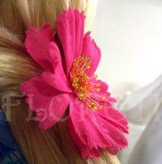 Gerbera Daisy Bridal Hair Clip French Silk Flower Bridesmaid Accessory | Floreti - Wedding on ArtFire.$53.87