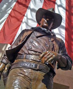 John Wayne statue at John Wayne Airport in Orange County, California