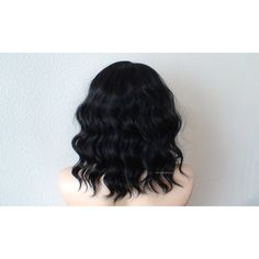 Human hair Premium hair blend wig. Black wig. Beach wavy hairstyle... ($180) ❤ liked on Polyvore featuring beauty products, haircare, hair styling tools en hair