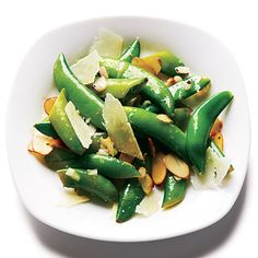 Toasted Almond and Pecorino Snap Peas by Cooking Light