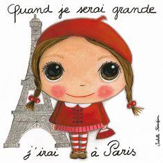 """Tableau d'Isabelle Kessedjian """"Quand je serai grande, j'irai à Paris"""" - Le Coin des Créateurs"""