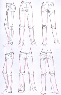 art reference poses, art reference character design, art r. Drawing Reference Poses, Drawing Poses, Drawing Tips, Manga Clothes, Drawing Clothes, Jeans Drawing, Shorts Drawing, Kleidung Design, Clothing Sketches