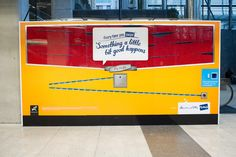 We made a giant Giant Jaffa dispensing machine at Britomart in Auckland! Swipe your Fly Buys card and get a Giant Jaffa! Creative Advertising, Auckland, About Me Blog, Marketing, Cards, How To Make, Stuff To Buy, Ads Creative, Map